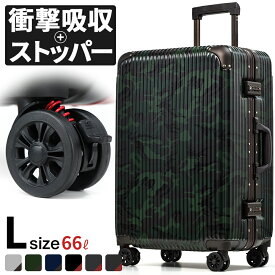スーツケース 超軽量 TSAロック おすすめ 丈夫 旅行 旅行バッグ 海外旅行 サスペンション ブレーキ キャスターストッパー フレーム 大型 Lサイズ トランク 受託手荷物無料サイズ 頑丈 キャリーケース キャリーバッグ 大容量 アルミ 送料無料