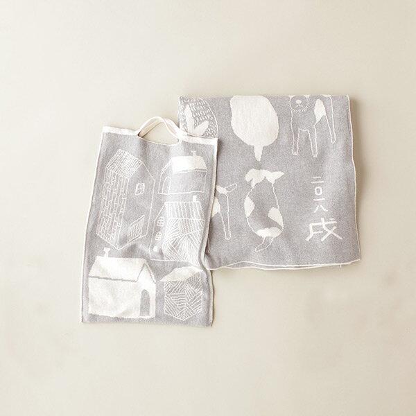 cofucu オーガニックコットン 戌年アフガンセット |コフク 日本製 おくるみ ベビー服 敏感肌 出産祝い 内祝い 自然素材 出産 ギフト プレゼント オーガニック コットン エシカル ファクトリーブランド