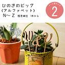 【ひのきのピック】数字[N]〜[Z] 1本単位 DIY 装飾用 檜ヒノキ 国産【装飾向け】【メール便】ケーキトッパー ウェデ…