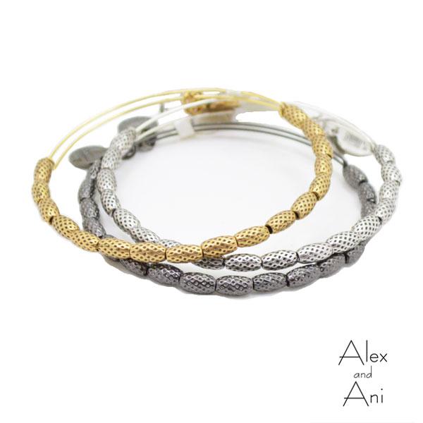 ALEX AND ANI アレックスアンドアニメタルビーズバングル Indus ワイヤー バングル ブレスレット 【ゴールド/シルバー/ヘマタイト】【メール便可】 【無料ラッピング可】 alex&ani【ATI】【あす楽対応】