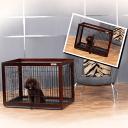 【送料無料】Simply Plusおしゃれ木製枠・金網ペット/犬ケージ【犬サークル】DWm01 Mペット用品 ペットグッズ 犬用品 …