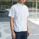 graphzero(グラフゼロ)トラベラーズプルオーバーボタンダウンシャツ 半袖 タイプライタークロス ホワイト メンズ [GZ-PO-SS2806-WH] 岡...