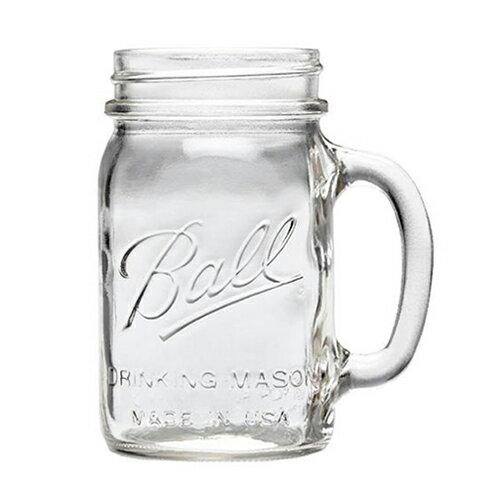 ボールメイソンジャー正規品 レギュラーマウス マグ 480ml / Ball Mason Jar Regular Mouth Drinking Mug 16oz