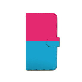 スマホケース 手帳型 全機種対応 [バイカラー] iPhone XS XR Xperia XZ3 Ace iPhone8 Galaxy S10 S9 android one S5 S3 X5 AQUOS ARROWS Google picxel 3a らくらくスマートフォン BASIO3 手帳型ケース ベルトなし 夏 メール便 送料無料