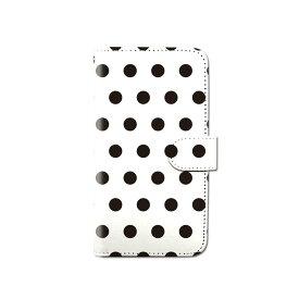スマホケース 手帳型 全機種対応 ドット柄 水玉模様 iPhone XS XR iPhone11 Xperia XZ3 Ace iPhone8 Galaxy S10 S9 android one S5 S3 AQUOS ARROWS Google pixel 3a らくらくスマートフォン BASIO3 手帳型ケース ベルトなし メール便 送料無料