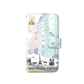 スマホケース 手帳型 全機種対応 トラベル 旅行 iPhone XS XR iPhone11 Xperia XZ3 Ace iPhone8 Galaxy S10 S9 android one S5 S3 AQUOS ARROWS Google pixel 3a らくらくスマートフォン BASIO3 手帳型ケース ベルトなし メール便 送料無料