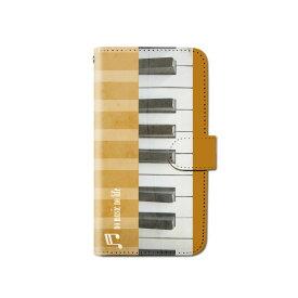 スマホケース 手帳型 全機種対応 ピアノ iPhone XS XR Xperia XZ3 Ace iPhone8 Galaxy S10 S9 android one S5 S3 X5 AQUOS ARROWS Google pixel 3a らくらくスマートフォン BASIO3 手帳型ケース ベルトなし メール便 送料無料