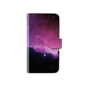 スマホケース 手帳型 全機種対応 [宇宙] iPhone XS XR Xperia XZ3 Ace iPhone8 Galaxy S10 S9 android one S5 S3 X5 AQUOS ARROWS Google picxel 3a らくらくスマートフォン BASIO3 手帳型ケース ベルトなし メール便 送料無料
