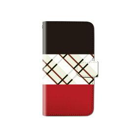スマホケース 手帳型 全機種対応 チェック柄 格子柄 トリコロール iPhone XS XR Xperia XZ3 Ace iPhone8 Galaxy S10 S9 android one S5 S3 X5 AQUOS ARROWS Google pixel 3a らくらくスマートフォン BASIO3 手帳型ケース ベルトなし メール便 送料無料