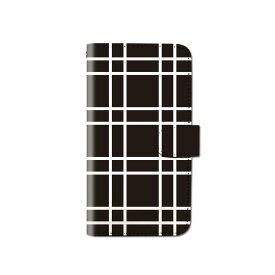 スマホケース 手帳型 全機種対応 [チェック柄 格子柄 ウィンドペン] iPhone XS XR Xperia XZ3 Ace iPhone8 Galaxy S10 S9 android one S5 S3 X5 AQUOS ARROWS Google picxel 3a らくらくスマートフォン BASIO3 手帳型ケース ベルトなし メール便 送料無料