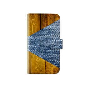 スマホケース 手帳型 全機種対応 ウッド デニム 木目 iPhone XS XR Xperia XZ3 Ace iPhone8 Galaxy S10 S9 android one S5 S3 X5 AQUOS ARROWS Google pixel 3a らくらくスマートフォン BASIO3 手帳型ケース ベルトなし ハワイアン メール便 送料無料