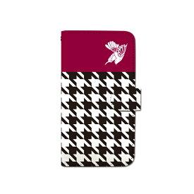 スマホケース 手帳型 全機種対応 千鳥 チェック iPhone XS XR Xperia XZ3 Ace iPhone8 Galaxy S10 S9 android one S5 S3 X5 AQUOS ARROWS Google pixel 3a らくらくスマートフォン BASIO3 手帳型ケース ベルトなし 春 カバー メール便 送料無料