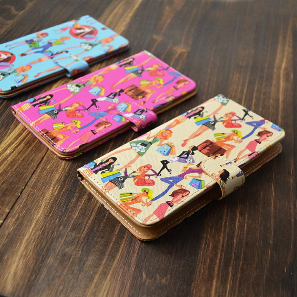 スマホケース 手帳型 全機種対応 [ファッション ガリー] スタンド機能 iPhone XS XR Xperia XZ2 iPhone8 Galaxy S9 S8 android one S5 S3 X5 らくらくスマートフォン かんたんスマホ 705kc BASIO 手帳型ケース