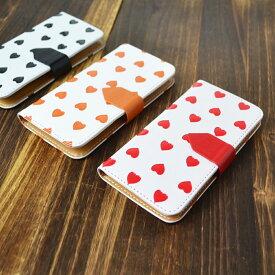 【11/12 23:59迄ポイント10倍】スマホケース 手帳型 全機種対応 ハート型ドット iPhone XS XR iPhone11 xperia5ケース iPhone8 Galaxy S10 android one S5 S3 huawei p30 lite oppo Google pixel 3a iphone7 BASIO3 手帳型ケース
