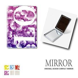 折りたたみ 鏡 ミラー ラブ 卓上ミラー 化粧鏡 かがみ コンパクトミラー かわいい メイク用 拡大鏡 拡大 両面 角型 ズーム ハート おしゃれ