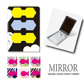 折りたたみ 鏡 ミラー カラフル ハート 卓上ミラー 化粧鏡 かがみ コンパクトミラー かわいい メイク用 拡大鏡 拡大 両面 角型 ズーム