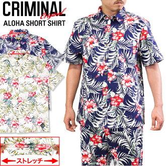범죄 원래 꽃무늬 알로하 칼자루 트로피컬 무늬 의상 힙합 반 오리지널 SHIRTS 남성