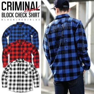 刑事原始长袖复选衬衫黑色白色红色蓝色红色黑色蓝色打印休闲复选男装大