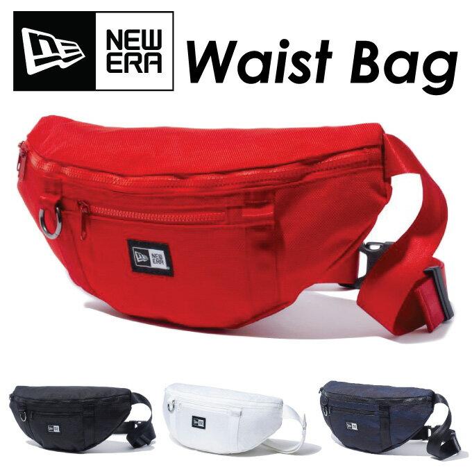 NEW ERA ニューエラ ウエストバッグ ウエストポーチ ショルダーバッグ メンズ 大容量 軽量 持ち運び便利 おしゃれ スポーツ ボディバッグ 黒 赤 白 無地 普段使い NEWERA WAIST BAG【メール便可】