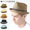 PETER GRIMM ハット 【Depp】【全5色】 ピーターグリム HAT デップ ストローハット 麦わら リボン 中折れハット 帽子 …