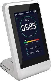 二酸化炭素 濃度計 CO2マネージャー CO2 濃度 測定器 計測 測定 温度計 湿度計 二酸化炭素測定器 CO2 モニター メーター CO2 センサー 東亜産業 TOA-CO2MG-001 日本語説明書