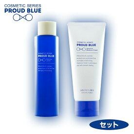 プラウドブルー PROUD BLUE《セット》モイスチュアローション(化粧水) 150mL + センシティブモイスチュアクリーム 100g 神奈川大学開発 特許技術採用の界面活性剤フリーコスメ