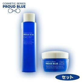プラウドブルー PROUD BLUE《セット》モイスチュアローション(化粧水)150mL + モイスチュアジェル(美容ジェル)50g 神奈川大学開発 特許技術採用の界面活性剤フリーコスメ