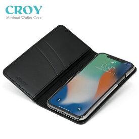 iPhone X Xperia XZ2/XZ1/XZ1 Compact 手帳型 レザーケース MINIMAL WALLET CASE【高品質な牛ヌメ革を使用/革職人がコバ処理まで拘って制作/ミニマルウォレットケース】