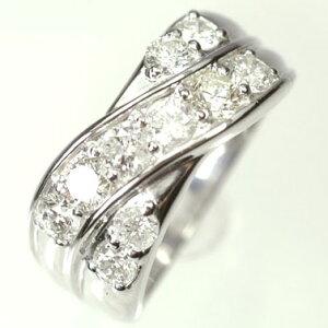 ダイヤモンド リング スウィートテン K18WG・ダイヤ1.0ct アニバーサリー10リング(指輪)【結婚10周年記念】【スウィート10石ダイヤモンド】ダイヤモンド指輪