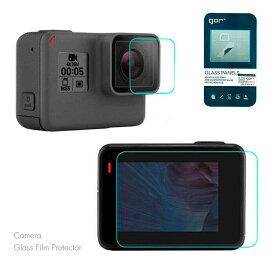 GoPro Hero7 Silver White 専用 液晶保護フィルム カメラレンズフィルム 液晶フィルム 液晶モニターフィルム 保護フィルム 2枚入り gor 正規品 スクリーンプロテクター 気泡防止 ガラスフィルム 指紋防止 飛散防止 硬度9H ゴープロ アウトドア 送料無料