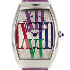 【中古】フランクミュラー インフィニティー トノー カラードリーム 2862QZ クォーツ SS ステンレススティール 純正レザーベルト シルバー文字盤 レディースウォッチ ブランドウォッチ 時計 腕時計 20-1075-D