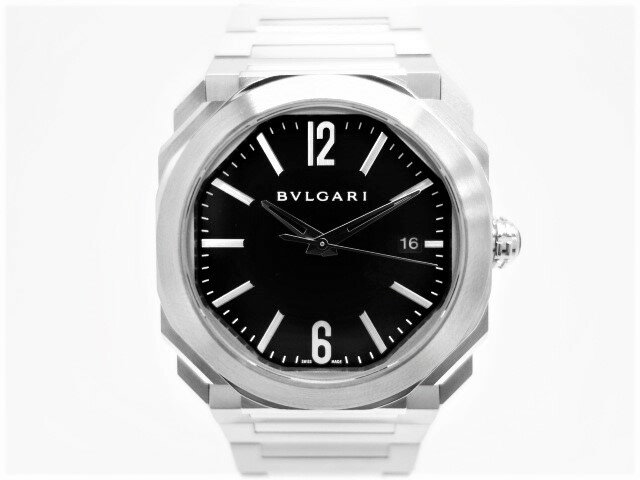 【メンズ】【送料無料】【中古】【時計】ブルガリ オクト ソロテンポ 腕時計BGO38BSSD 自動巻 SS ブラックメンズウォッチ 黒文字盤 裏スケルトン