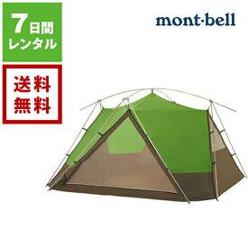 【レンタル】mont-bell モンベル ムーンライト テント 9型 グリーン《7日間レンタル》【往復送料無料】 アウトドア用品 ♯1122291 mont-bellテント モンベルテント アウトドアレンタル キャンプレンタル テントレンタル