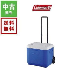 【中古】Coleman コールマン ホイールクーラー 60QT ブルー/ホワイト【送料無料】キャンプ アウトドア クーラーボックス