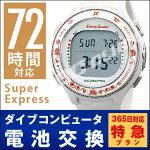 【SuperExpress72時間対応】ダイブコンピュータ電池交換+返送料無料※のセット価格!全日平日扱い!