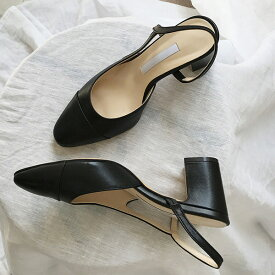 パンプス ローヒール バックストラップ バイカラー スエード 黒 ブラック ベージュ レディース 靴 婦人靴 ホワイト