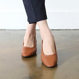 パンプス レディース ローヒール 太ヒール ラウンドトゥ 黒 ブラック ベージュ 婦人靴 痛くない 歩きやすい OL ビジネス オフィス