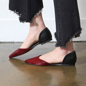 パンプス フラットシューズ ぺたんこ ペタンコ レオパード ヒョウ柄 黒 ブラック ポインテッドトゥ レディース 靴 婦人靴 歩きやすい 痛くない