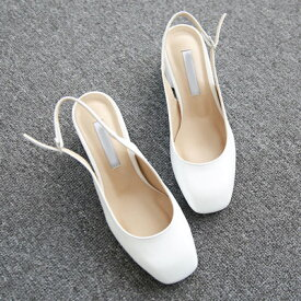 パンプス ヒール バックストラップ 黒 ブラック ベージュ ホワイト レディース 靴 婦人靴