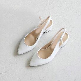 パンプス バックストラップ ローヒール 太ヒール 黒 ブラック 白 ホワイト オフィス レザー レディース 靴 婦人靴 歩きやすい 痛くない