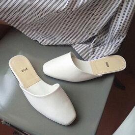 サンダル レディース フラット ぺたんこ 黒 ブラック ホワイト ベージュ 婦人靴 痛くない 歩きやすい スリッパ
