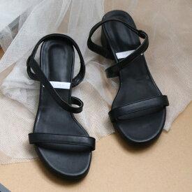 サンダル レディースシューズ ローヒール シルバー ブラック バックストラップ ホワイト 靴 歩きやすい 太ヒール