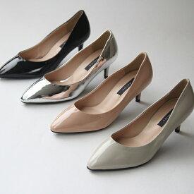 パンプス ポインテッドトゥ ハイヒール フラットシューズ シルバー ブラック ベージュ グレー レディースシューズ 婦人靴 痛くない 2cm 6cm