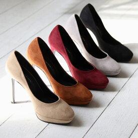 パンプス ハイヒール スエード ストーム 黒 ブラック ベージュ グレー ブラウン グレー レディースシューズ 婦人靴