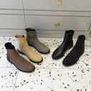 ショートブーツ レディース ヒール スエード 黒 ブラック ローヒール ブーティ 靴 婦人靴 ベージュ ブラウン グレー
