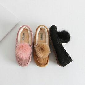 ローファー レディースシューズ ファー ポンポン おじ靴 ブラック 黒 ベージュ ピンク スニーカー ぺたんこ 婦人靴 シンプル スニーカー