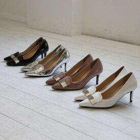 パンプス モチーフ ハイヒール シルバー 黒 ブラック ピンク ホワイト レディースシューズ 婦人靴 結婚式 大人