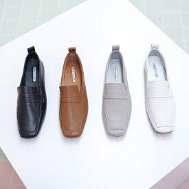 ローファー レディースシューズ おじ靴 革靴 ブラック 黒 白 ホワイト グレー ブラウン オックスフォード ぺたんこ 婦人靴 シンプル
