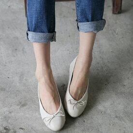 フラットシューズ パンプス リボン レディース バレエシューズ ぺたんこ ペタンコ 靴 婦人靴 黒 ブラック グレー レッド