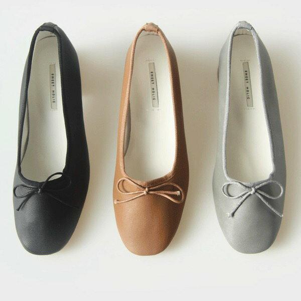 パンプス リボン レディース バレエシューズ ローヒール 靴 婦人靴 黒 ブラック 歩きやすい 痛くない